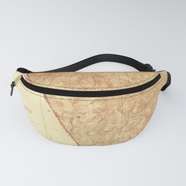 Pico, CA from 1940 Vintage Map - High Quality Fanny Pack