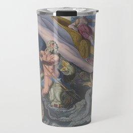 Mythology Greek Gods Goddess Color Engraving 1590 by Goltzius Sea Monster - Home Decor Wall Engraving Travel Mug