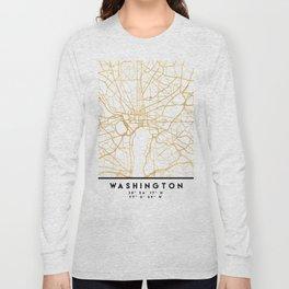 WASHINGTON D.C. DISTRICT OF COLUMBIA CITY STREET MAP ART Long Sleeve T-shirt