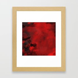 Red and Black Abstract Framed Art Print