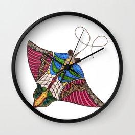 Colorful Stingray Wall Clock