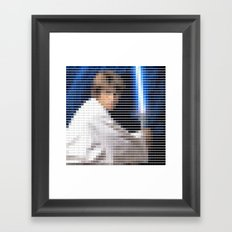 Luke Skywalker - StarWars - Pantone Swatch Art Framed Art Print