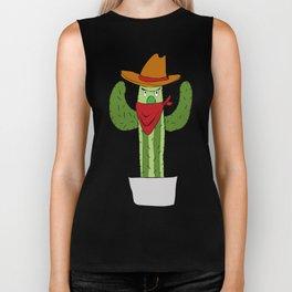 Cowboy Cactus Biker Tank