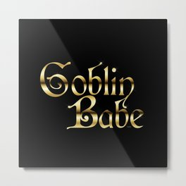 Labyrinth Goblin Babe (black bg) Metal Print