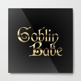 Labyrinth Goblin Babe (black bg) Metal Print