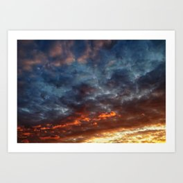 Sunset on May 5 IV Art Print