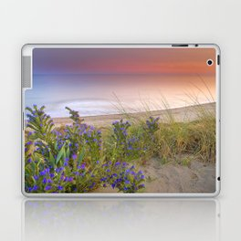 """Purple flowers at the sea sunset"" Laptop & iPad Skin"