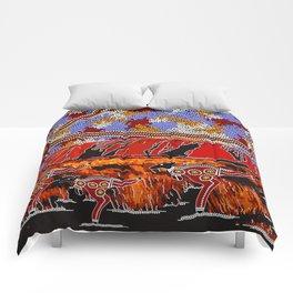 Uluru (Ayers Rock) Authentic Aboriginal Art Comforters