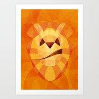 Fire dog Art Print