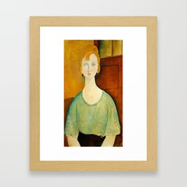 "Amedeo Modigliani ""Girl in a green blouse"" Framed Art Print"