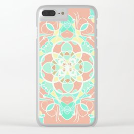 Mandala in pink pastel overlay Clear iPhone Case