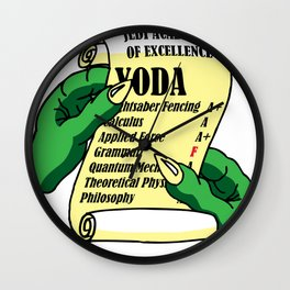 Yoda's Report Card Wall Clock