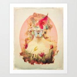 Lady Silence Art Print