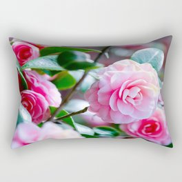 Pink Camelias Rectangular Pillow