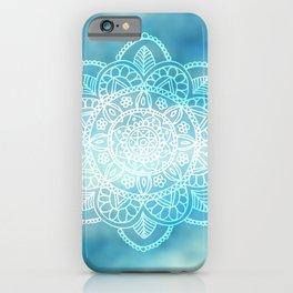 Mandala Blue Cloudy Sky iPhone Case