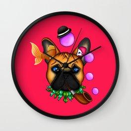 Drunk Dog (Pink) Wall Clock
