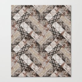Combined ethnic pattern. Patchwork.3 Canvas Print