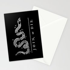 Join or Die in Black and White Stationery Cards