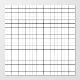 GRID - White Ver. Canvas Print