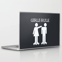 roller derby Laptop & iPad Skins featuring Girls Ruler Roller Derby by Digi-Designs by Nicole
