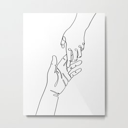 Touching Metal Print