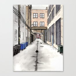 Alley in Ravenswood, Chicago Canvas Print