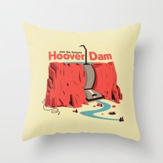 The Hoover Dam Throw Pillow