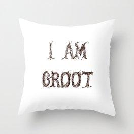 I AM GROOT Throw Pillow