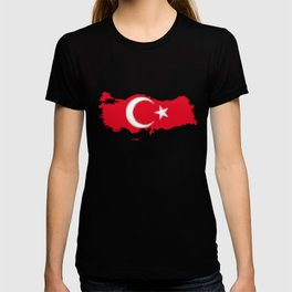 Turkey Map with Turkish Flag T-shirt