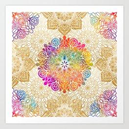 Beautiful Colorful Bohemian Mandala Pattern Kunstdrucke