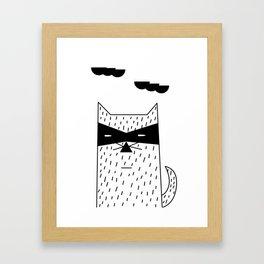 The Bandit Cat Framed Art Print