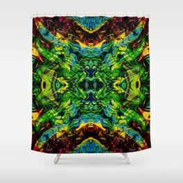 Exploding Star Shower Curtain