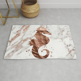 Rose gold seahorse marble Rug