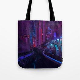 Tokyo Nights / Glitch City / Liam Wong Tote Bag
