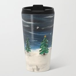 Christmas Snowy Winter Landscape Travel Mug