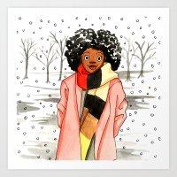 Snow Fro Art Print