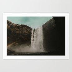 Iceland Waterfall x Skógafoss Art Print