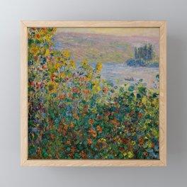 """Claude Monet """"Flower Beds at Vétheuil"""" Framed Mini Art Print"""