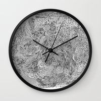 milky way Wall Clocks featuring Milky Way by Hendry Lim