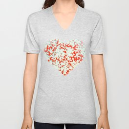 camouflage texture in red Unisex V-Neck