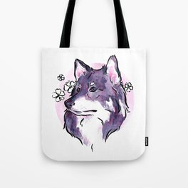 Purple Wolf Tote Bag