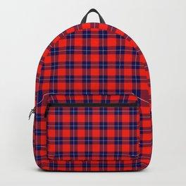 Maasai Shuka - Red & Blue Backpack