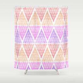 Stacked Triangles - Warm Shower Curtain