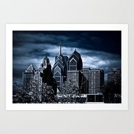the dark city Art Print