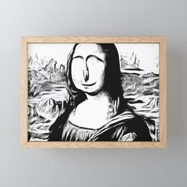 GiocondITS Framed Mini Art Print