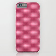 Dark Pink Spotty Pattern iPhone 6s Slim Case