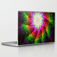 chakra Laptop & iPad Skins featuring Star Chakra by Muertorita