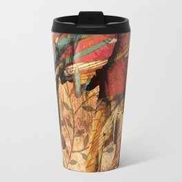 African Patterned Elephants Travel Mug