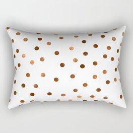Copper Dots Pattern Rectangular Pillow