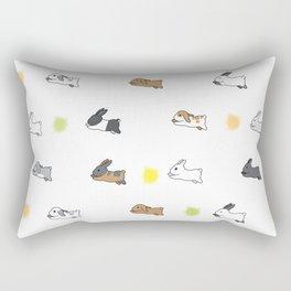 Bunny Rabbit Breeds Rectangular Pillow